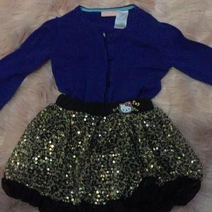 Girls sequins skirt shorts